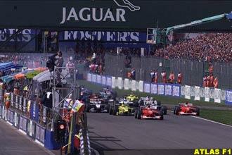 The start of the British GP