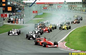 Schumacher leads from pole