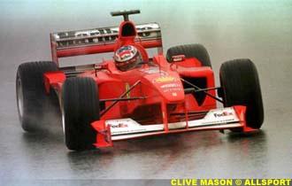 Michael Schumacher in the wet