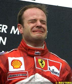 Barrichello on the podium