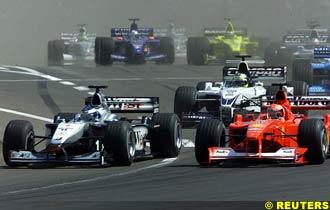 Hakkinen takes the lead