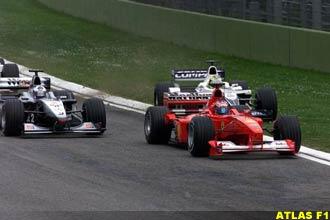 Schumacher cuts across Coulthard