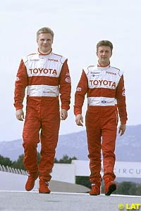 Mika Salo and Allan McNish, last month