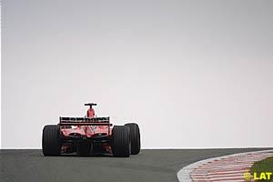 Michael Schumacher on the top of Eau Rouge