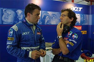 Prost with his now former friend Alesi