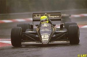 Senna in wet Spa in 1985