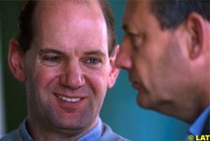 Newey with McLaren boss Ron Dennis