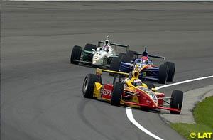 Scott Sharp loses control at the start