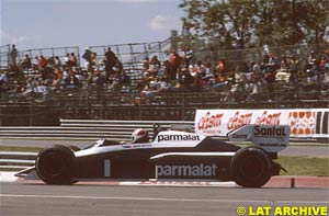 Piquet at the Canadian GP 1984