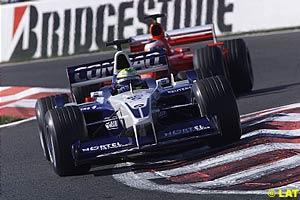 Ralf Schumacher leads Rubens Barrichello