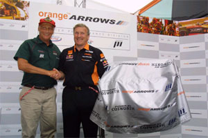 Niki Lauda and Tom Walkinshaw