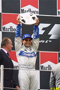 His first podium in F1, in Spain