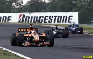 Jos Verstappen followed by Fernando Alonso