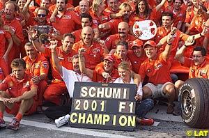 Ferrari team group photo