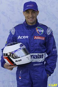 A smiling Jean Alesi, finally