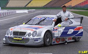 Jean Alesi with his new car