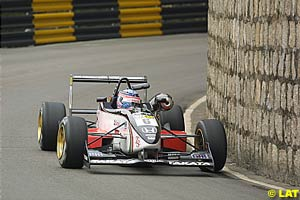 Takuma Sato rounding one of Macau's many bends