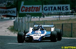 Jacques Laffite at the French GP, 1980