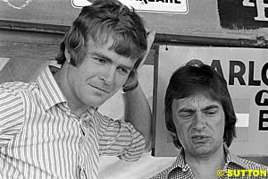 Max Mosley of March and Brabham owner Bernie Ecclestone