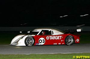 Darren Manning testing last month the Riley-Lexus he will be sharing with Scott Dixon and Casey Mears this weekend