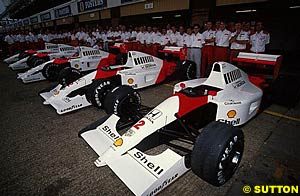 McLaren team photo, 1991 British Grand Prix