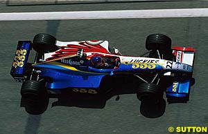 Jacques Villeneuve in the 1999 BAR 'zipper' livery