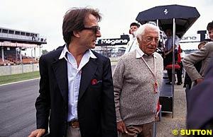 Luca di Montezemolo & FIAT President Gianni Agnelli