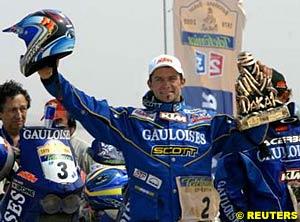 Motorcycle winner Cyril Despres