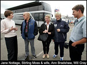 Jane Nottage, Stirling Moss & wife, Ann bradshaw, Will  Gray