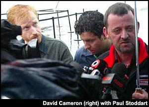 David Cameron with Paul Stoddart