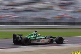 Pedro de la Rosa in action at Monza
